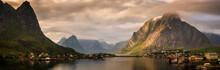 Reinefjorden Sunset Panorama