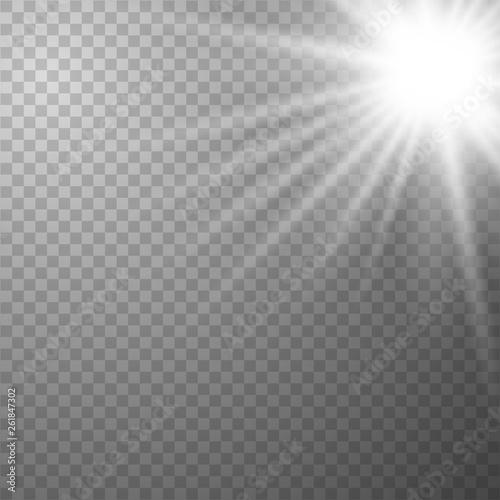 Fototapeta Sunlight on a transparent background. obraz na płótnie
