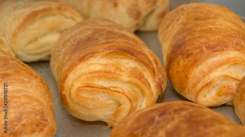 Fotografie, Obraz  Puff pastry rolls, fresh sweet pastries