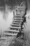 Fototapeta Pomosty - stary drewniany pomost