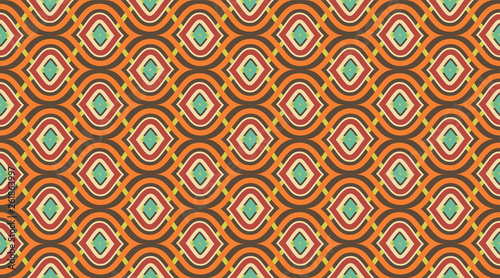 Papel de parede Seamless pattern geometric