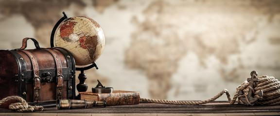 Vintage World Globe, Suitca...