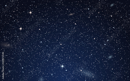 Fototapety na sufit   night-sky-vector-background-with-stars-nebula-and-galaxies
