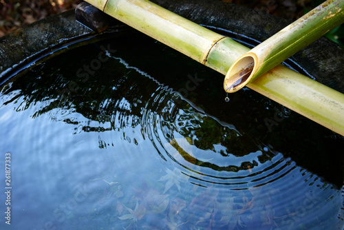 Zdjęcie XXL Tsukubai, miska na wodę do rąk