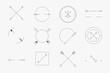 Leinwanddruck Bild - Simple arrow badge set