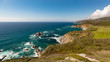Pacific Coast of California from CA-1 Cabrillo Hwy at Hurricane Point View in Carmel-By-The-Sea, California