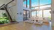 Leinwanddruck Bild - modern house interior design.