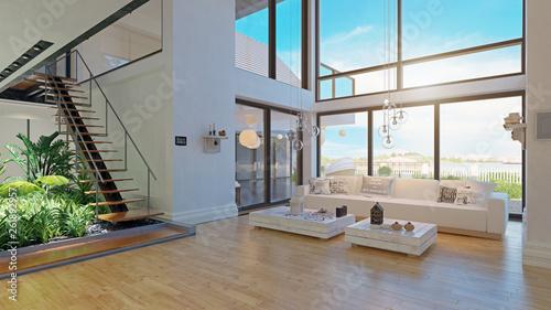 Fototapeta modern house interior design. obraz