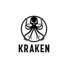 Kraken Logo, Octopus & Skull L...
