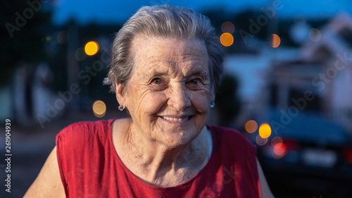 Fotografie, Obraz  Beautiful older woman laughing and smiling