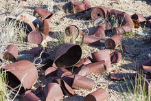 Old Cans In The Desert