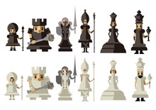 Chess Game Cute Pieces