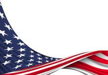 American Flag Design. American Background For National Celebrations.
