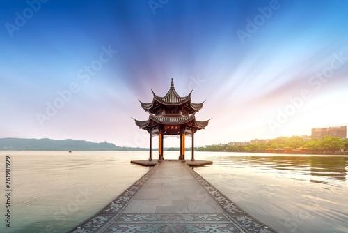 Plakat Chiny Hangzhou West Lake Krajobraz