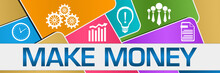 Make Money Colorful Rounded Squares Texture Symbols