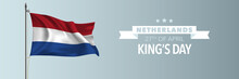 Netherlands Happy King's Day Greeting Card, Banner Vector Illustration