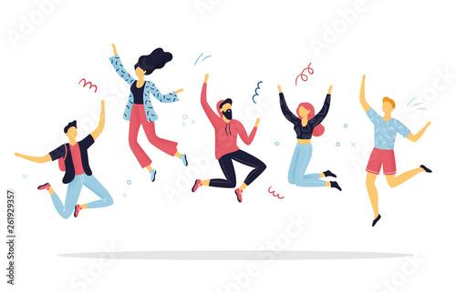 Fotografía Happy people jumping for joy