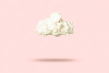 Cloud Of Cotton Wool On A Pink...