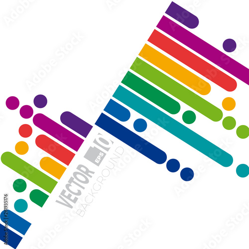 Keuken foto achterwand Eigen foto Cover with copy space for text. Abstract spring vector background. Rainbow template for your project
