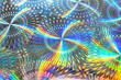 Leinwanddruck Bild - Blinking iridescent texture, closeup