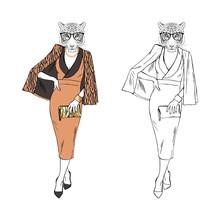 Humanized Lady Tigress Hipster...