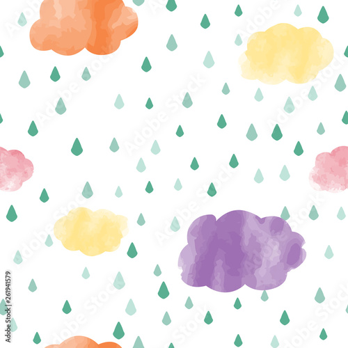 Poster de jardin Retro sign cute seamless kids pattern