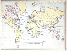Old Map. British Empire.