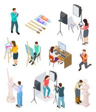 Isometric Artist. Art Studio A...