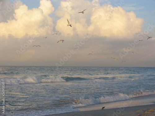 Photo Sonnenaufgang am Strand von Holmes Beach
