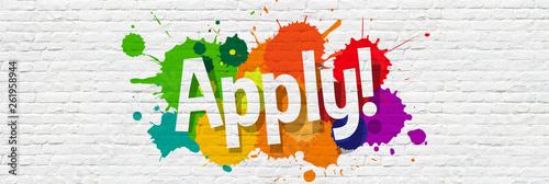 Apply ! Wallpaper Mural