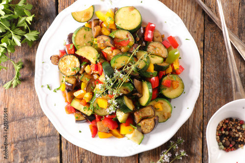 fried vegetable with rosemary