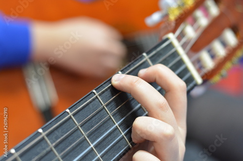 Playing Classic Guitar Canvas Print