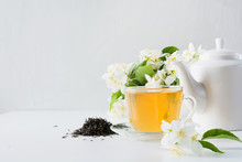 Cup Of Green Jasmin Tea White ...