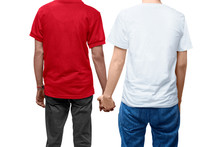 Rear View Of Gay Couple Holdin...