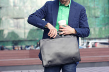 Cropped Image Businessman In C...