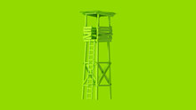 Lime Green Old Rickety Watch T...