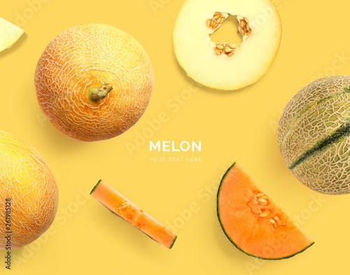Stampa su Tela Creative layout made of melon