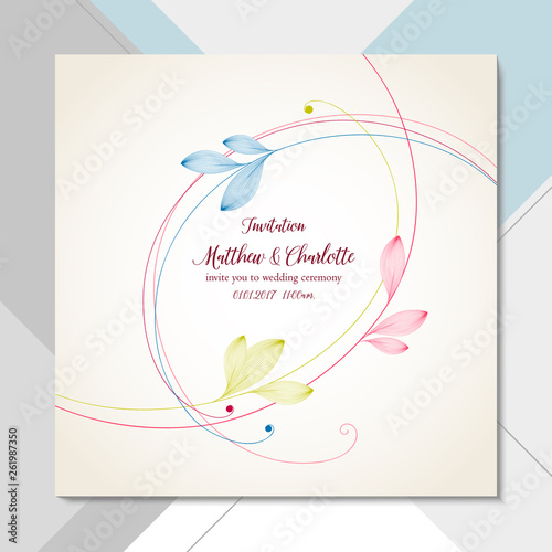 Delicate Floral Card On Abstract Background Invitation