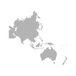 Map of Asia Pacific. - Vector