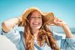 Leinwandbild Motiv Woman enjoying summer