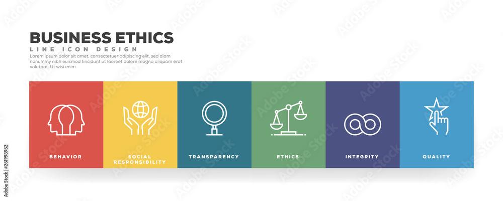 Fototapeta Business Ethics Line Icon Design