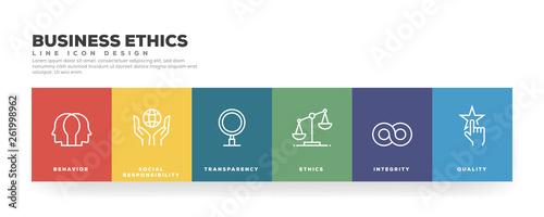 Fototapeta Business Ethics Line Icon Design obraz
