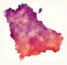 Gegharkunik Watercolor Province Map Of Armenia