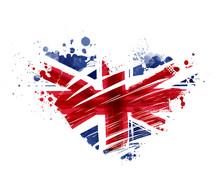 Grunge Heart Flag Of United Kngdom