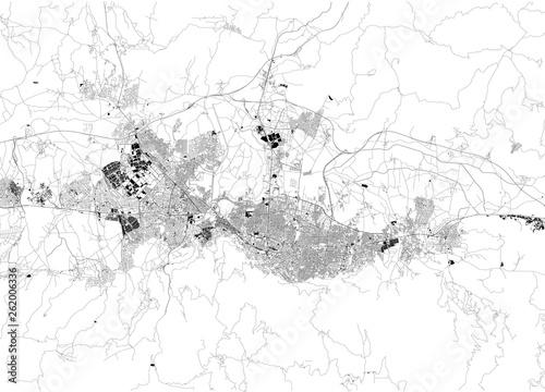 Satellite map of Bursa. It is a large city in Turkey ...