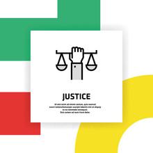 Justice Icon Concept
