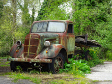 Studebaker Truck Rusting By The Side Of The Road In Spain