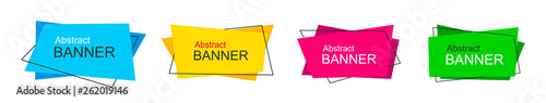 Set of modern abstract vector banners. Template ready for use in web or print design.