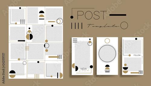 Design backgrounds for social media banner Set of instagram