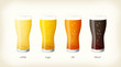 Various beer illustrations